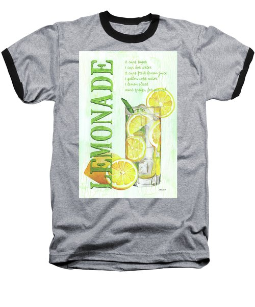 Baseball T-Shirt featuring the painting Lemonade by Debbie DeWitt