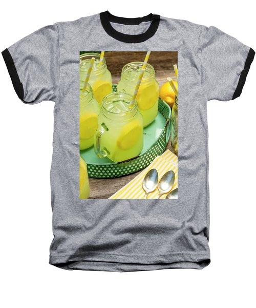 Lemonade In Blue Tray Baseball T-Shirt