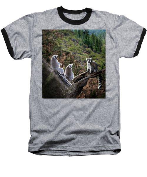 Lemur Family Baseball T-Shirt