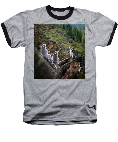 Lemur Family Baseball T-Shirt