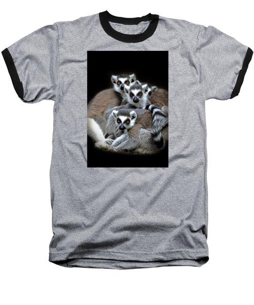 Baseball T-Shirt featuring the photograph Lemurs by Marion Johnson