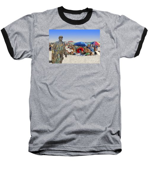 Lenin Goes To The Beach  Baseball T-Shirt