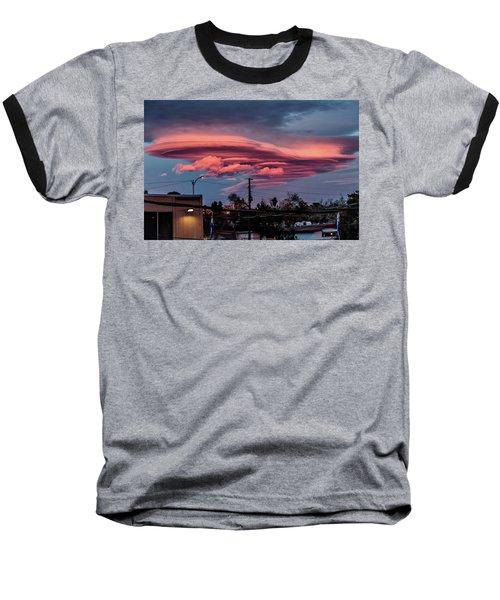 Lenticular Cloud Las Vegas Baseball T-Shirt by Michael Rogers