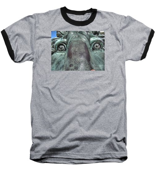 Leo Eyes Baseball T-Shirt by Yury Bashkin
