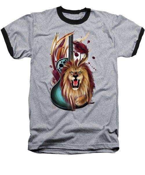Leo Baseball T-Shirt by Melanie D