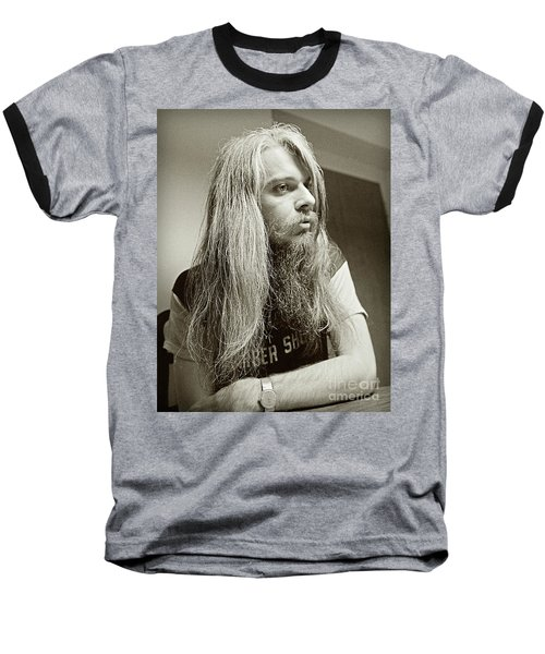 Baseball T-Shirt featuring the photograph Leon Russell 1970 by Martin Konopacki Restoration