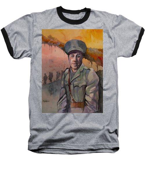 Leonard Keysor Vc Baseball T-Shirt by Ray Agius