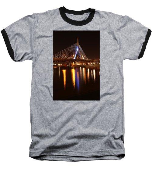 Leonard P. Zakim Bunker Hill Bridge Reflection 2 Baseball T-Shirt