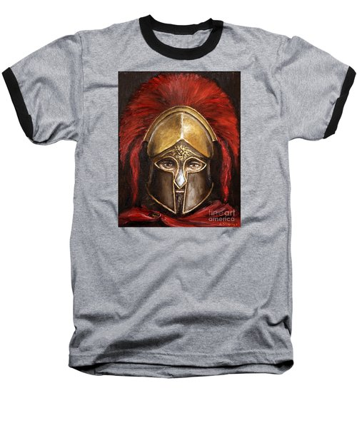 Baseball T-Shirt featuring the painting Leonidas by Arturas Slapsys