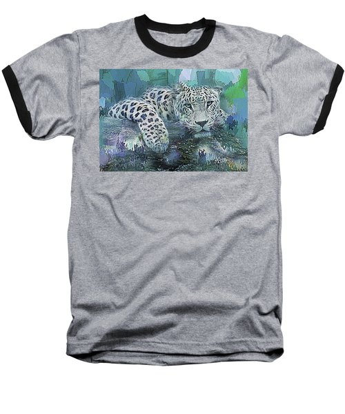 Baseball T-Shirt featuring the digital art Leopard Abstract by Galen Valle