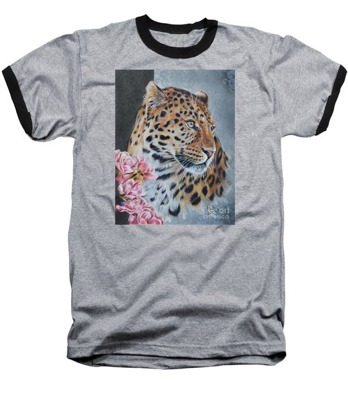 Leopard And Roses Baseball T-Shirt
