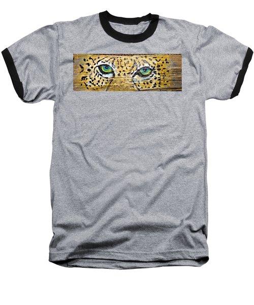 Leopard Eyes Baseball T-Shirt by Ann Michelle Swadener
