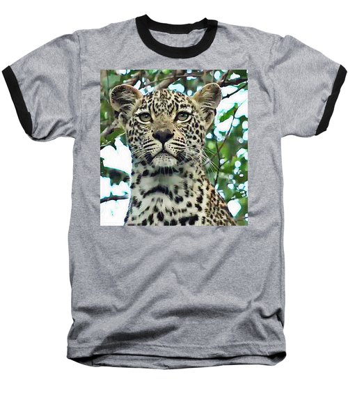 Leopard Face Baseball T-Shirt