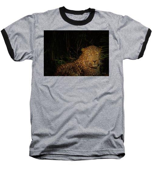 Leopard Hiding Baseball T-Shirt