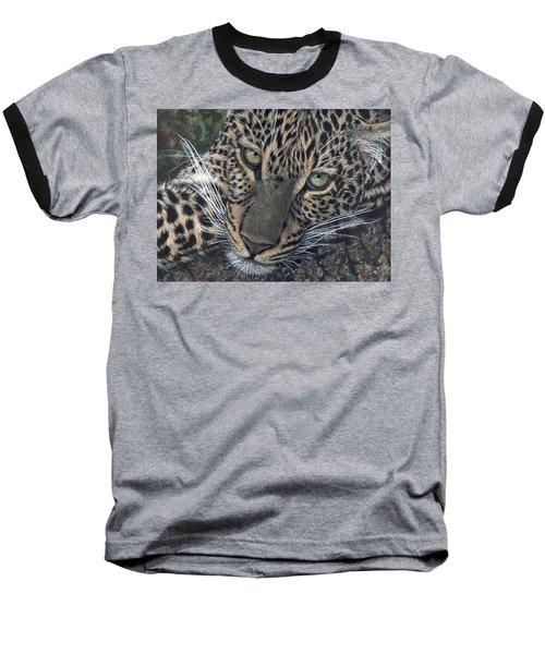 Leopard Portrait Baseball T-Shirt