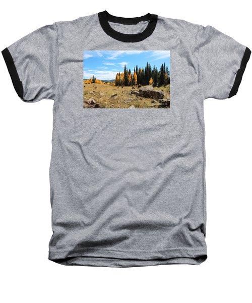 Leroux Creek Fall In Colorado Baseball T-Shirt