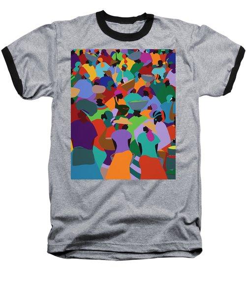 Les Palmes Market Haiti Baseball T-Shirt