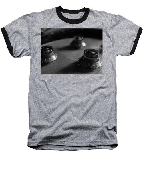 Baseball T-Shirt featuring the digital art Les Paul Controls Series  by Guitar Wacky