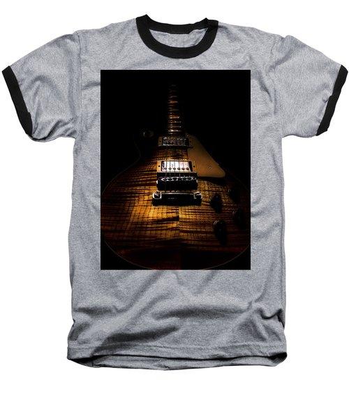 Baseball T-Shirt featuring the digital art Burst Top Guitar Spotlight Series by Guitar Wacky