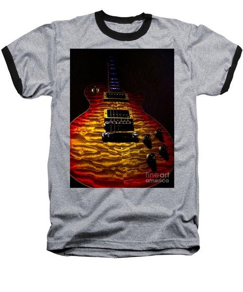 Guitar Custom Quilt Top Spotlight Series Baseball T-Shirt