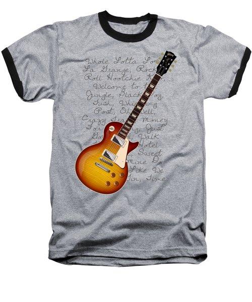 Les Paul Songs T-shirt Baseball T-Shirt by WB Johnston