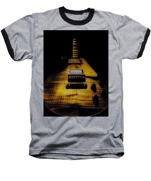 Baseball T-Shirt featuring the digital art 1958 Reissue Guitar Spotlight Series by Guitar Wacky