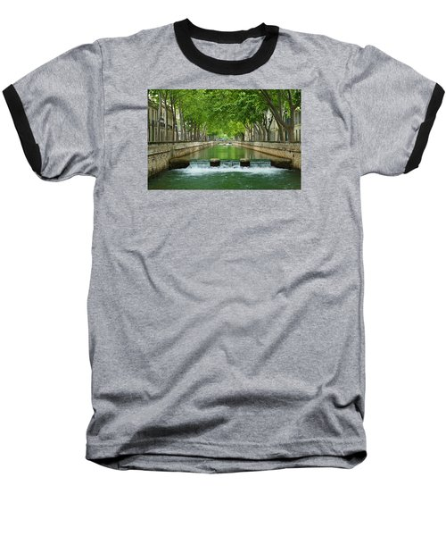 Les Quais De La Fontaine Baseball T-Shirt by Scott Carruthers