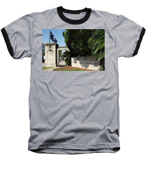 Lesesne Gate Baseball T-Shirt by Ed Waldrop