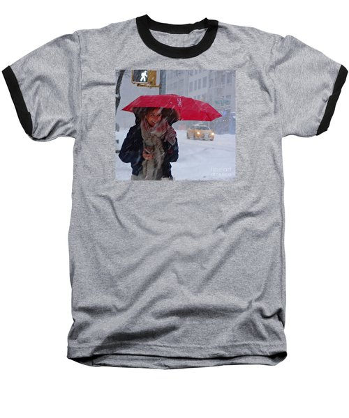 L Esprit De New York - Winter In New York Baseball T-Shirt