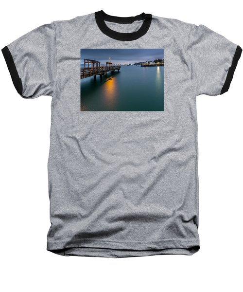 Less Davis Pier Commencement Bay Baseball T-Shirt