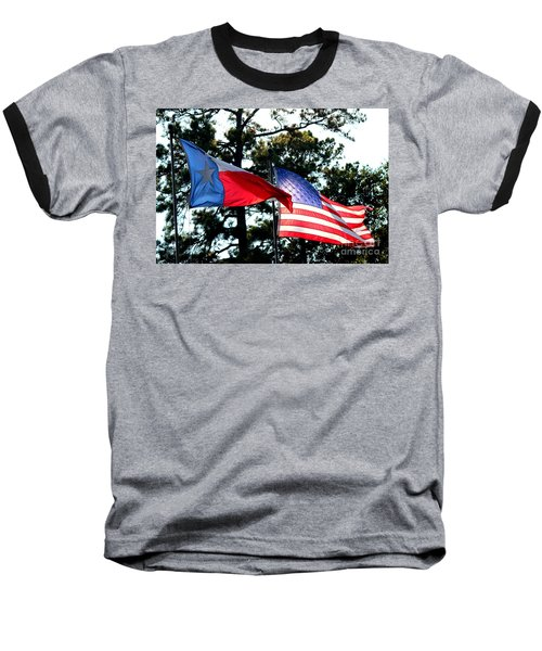 Baseball T-Shirt featuring the photograph Let Freedom Ring by Kathy  White