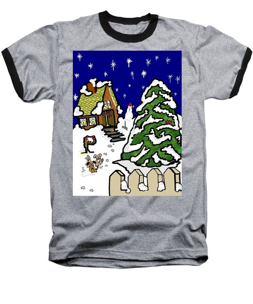 Let It Snow Baseball T-Shirt