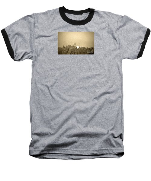Baseball T-Shirt featuring the photograph Let It Snow - Winter In Switzerland by Susanne Van Hulst