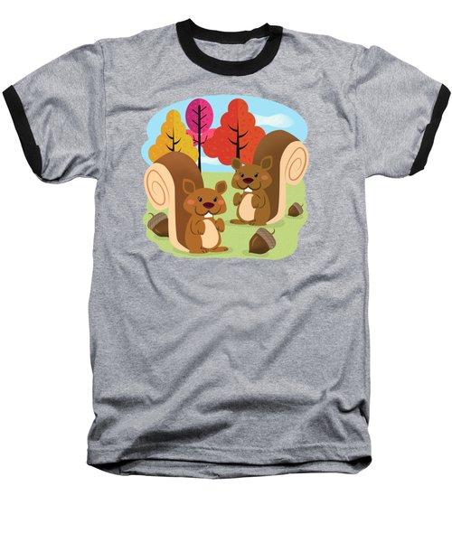 Let The Acorns Fall Baseball T-Shirt