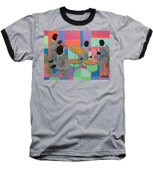 Let The Band Play Baseball T-Shirt by Angelo Thomas
