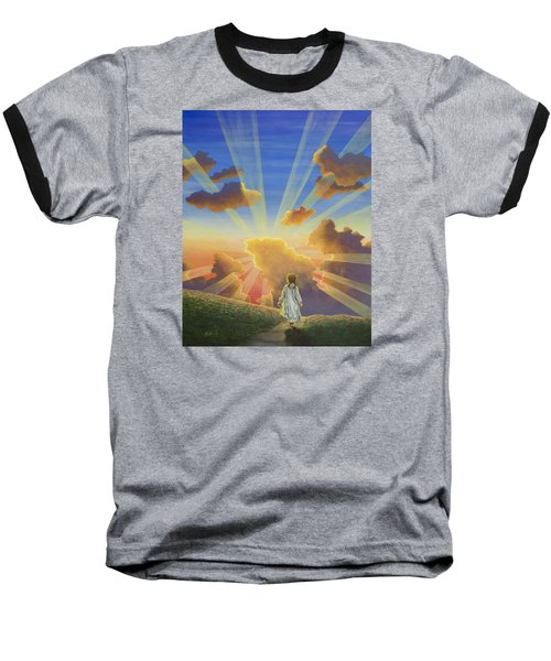Let The Day Begin Baseball T-Shirt by Jack Malloch
