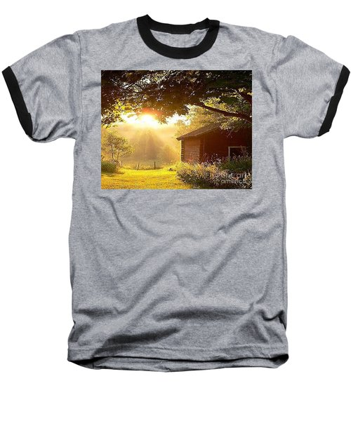 Let There Be Light Baseball T-Shirt by Rod Jellison