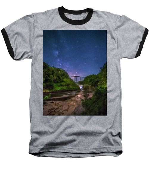 Baseball T-Shirt featuring the photograph Letchworth At Night by Mark Papke