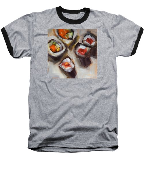 Let's Do Sushi Baseball T-Shirt by Tracy Male