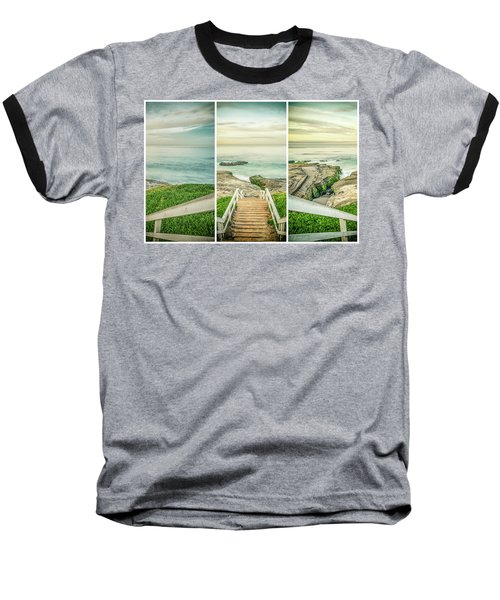 Let's Go Down To Windansea Baseball T-Shirt