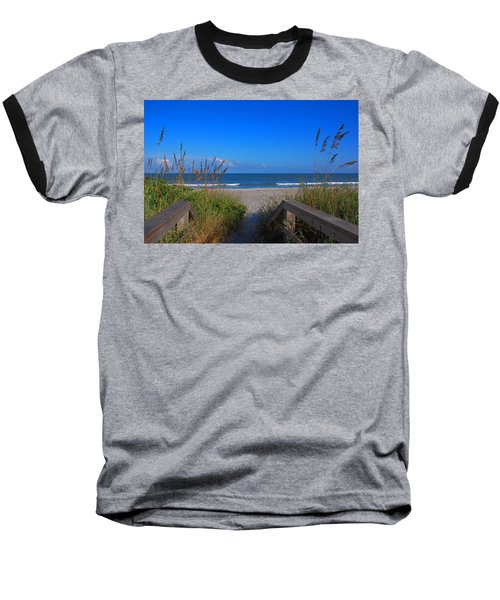 Lets Go To The Beach Baseball T-Shirt by Susanne Van Hulst