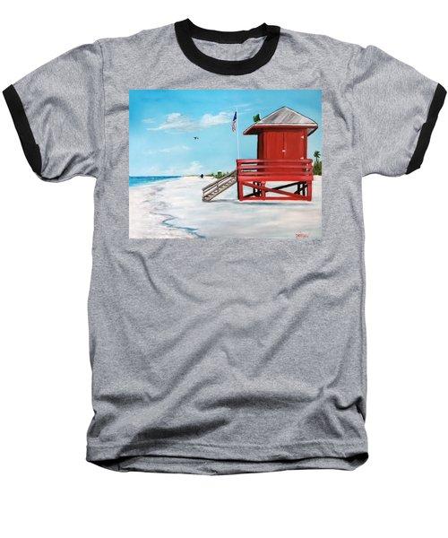 Let's Meet At The Red Lifeguard Shack Baseball T-Shirt