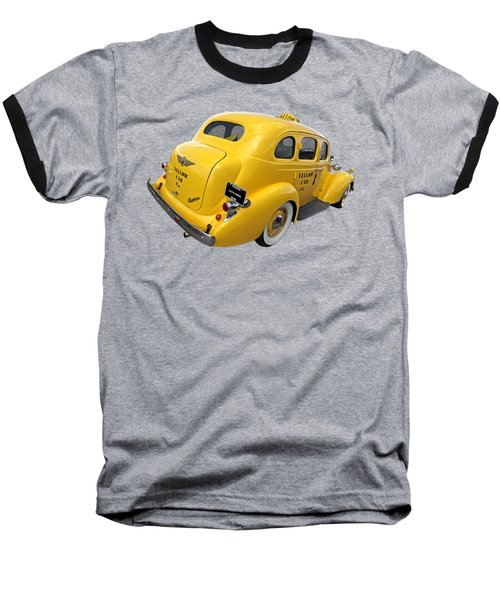 Let's Ride - Studebaker Yellow Cab Baseball T-Shirt by Gill Billington