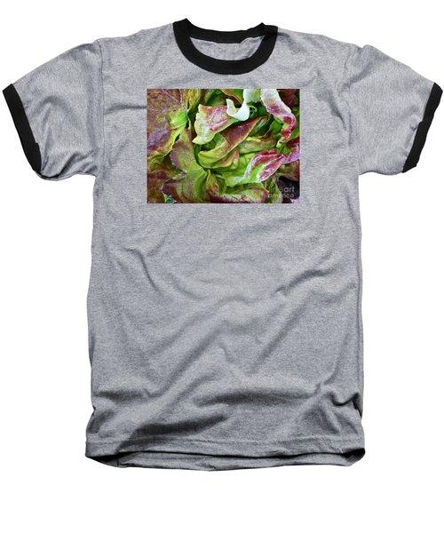 Lettuce Heart Baseball T-Shirt by Dee Flouton