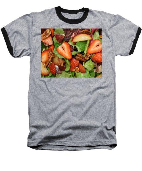 Lettuce Strawberry Plum Salad Baseball T-Shirt