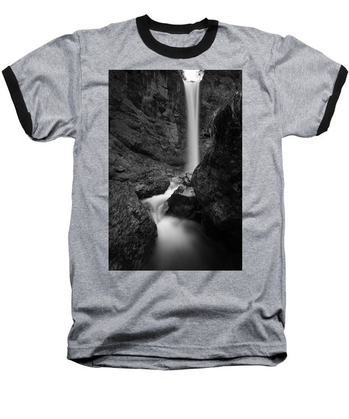 Leuenfall In Black And White Baseball T-Shirt