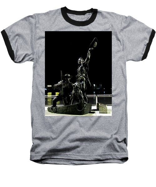 Lewis And Clark Arrive At Laclede's Landing Baseball T-Shirt by Kelly Awad