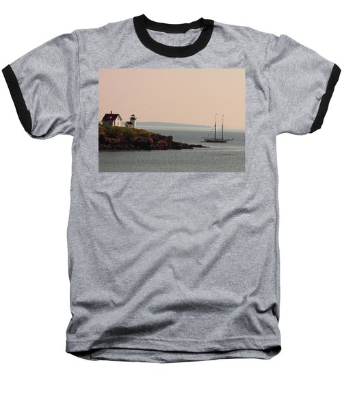 Lewis R French At The Curtis Island Lighthouse Baseball T-Shirt