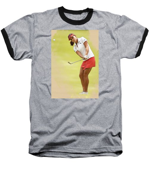 Lexi Thompson Chips To The First Green  Baseball T-Shirt
