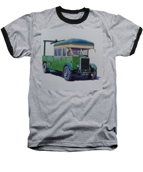 Leyland Southdown Wrecker. Baseball T-Shirt by Mike Jeffries